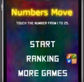Numbers Moveのゲームスタート画面